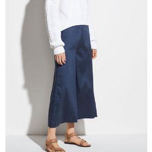 Vince High Rise Linen Culotte crop pants